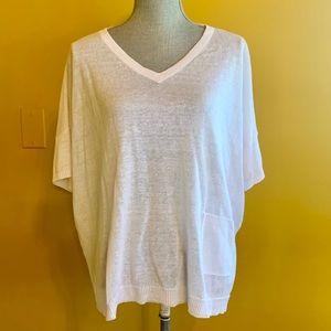Eileen Fisher White Summer Sweater